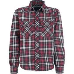 Brandit Checkshirt Koszula czarny/czerwony/biały. Białe koszule męskie na spinki marki Brandit, l, z aplikacjami, z bawełny, z długim rękawem. Za 99,90 zł.