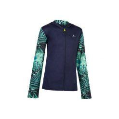 Bluza z kapturem S900. Szare bluzy dziewczęce rozpinane marki DOMYOS, z elastanu, z kapturem. W wyprzedaży za 39,99 zł.
