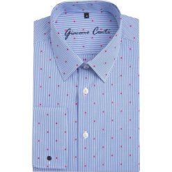 Koszula SIMONE KDNS000097. Białe koszule męskie na spinki marki Giacomo Conti, m, z bawełny, z klasycznym kołnierzykiem. Za 259,00 zł.