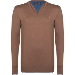 """Swetry męskie: Sweter """"Choke"""" w kolorze jasnobrązowym"""