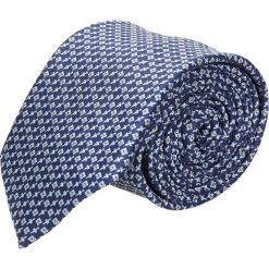 Krawaty męskie: krawat platinum granatowy classic 228