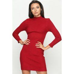 Sukienki: Bordowa Sukienka Woolie