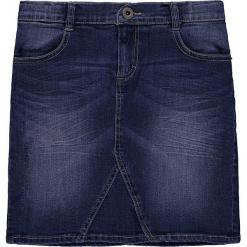 Dżinsowa spódnica w kolorze niebieskim. Białe spódniczki dziewczęce marki Marc O'Polo Junior, z nadrukiem, z okrągłym kołnierzem, z długim rękawem. W wyprzedaży za 95,95 zł.