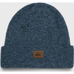 Quiksilver - Czapka. Szare czapki zimowe męskie Quiksilver, z dzianiny. Za 79,90 zł.