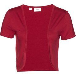 Bolerko shirtowe bonprix ciemnoczerwony. Czerwone bolerka i narzutki damskie bonprix. Za 24,99 zł.