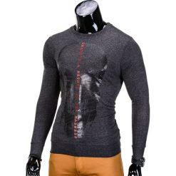 BLUZA MĘSKA BEZ KAPTURA Z NADRUKIEM B674 - GRAFITOWA. Szare bluzy męskie rozpinane marki Ombre Clothing, m, z nadrukiem, z bawełny, bez kaptura. Za 39,00 zł.