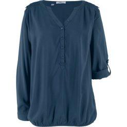 Bluzka, długi rękaw bonprix ciemnoniebieski. Niebieskie bluzki longsleeves bonprix. Za 49,99 zł.