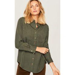 Koszula z lyocellu - Khaki. Brązowe koszule damskie marki DOMYOS, xs, z bawełny. Za 79,99 zł.
