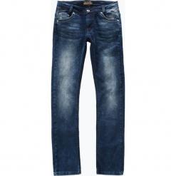 Blue Effect - Jeansy chłopięce regular fit skinny leg, niebieski. Niebieskie chinosy chłopięce Blue Effect, z jeansu. Za 179,95 zł.