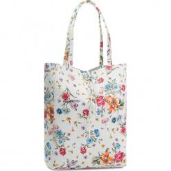 Torebka CREOLE - K10428  Biały Kwiaty. Białe torebki klasyczne damskie Creole, w kwiaty, ze skóry. W wyprzedaży za 159,00 zł.