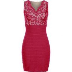 Sukienki: Sukienka z koronkową wstawką bonprix ciemnoczerwony