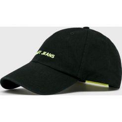 Tommy Jeans - Czapka. Czarne czapki z daszkiem męskie Tommy Jeans, z bawełny. Za 139,90 zł.