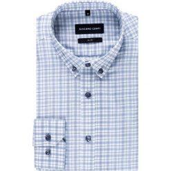 Koszula SIMONE KDWS000275. Czarne koszule męskie na spinki marki TOM TAILOR DENIM, l, z bawełny, button down, z długim rękawem. Za 229,00 zł.