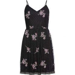 Sukienki: Sukienka z kwiatowym haftem bonprix czarny