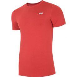 Odzież termoaktywna męska: Koszulka treningowa męska TSMF301 - czerwony melanż