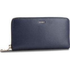 Duży Portfel Damski DKNY - Bryant New Zip Around R8313658 Navy NVY. Niebieskie portfele damskie DKNY, ze skóry. Za 549,00 zł.