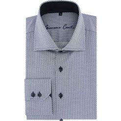 Koszula UGO slim 16-05-09-K. Szare koszule męskie na spinki marki S.Oliver, l, z bawełny, z włoskim kołnierzykiem, z długim rękawem. Za 259,00 zł.