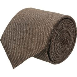 Krawaty męskie: krawat cotton brąz classic 201