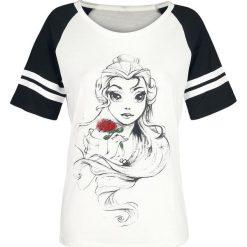 Piękna i Bestia Belle Koszulka damska biały (Old White)/czarny. Białe bluzki asymetryczne Piękna i Bestia, xl, z motywem z bajki. Za 79,90 zł.