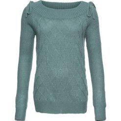 Swetry klasyczne damskie: Sweter bonprix niebieski mineralny