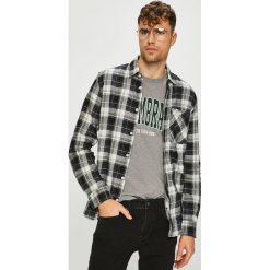 Tom Tailor Denim - Koszula. Szare koszule męskie na spinki marki TOM TAILOR DENIM, l, w kratkę, z bawełny, z klasycznym kołnierzykiem, z długim rękawem. W wyprzedaży za 99,90 zł.