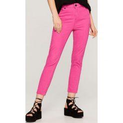 Spodnie z wysokim stanem: Spodnie z wysokim stanem – Różowy