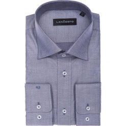 Koszula Freya. Szare koszule męskie na spinki marki LANCERTO, m, w geometryczne wzory, z bawełny. W wyprzedaży za 149,90 zł.