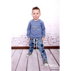 Bluzy chłopięce rozpinane: Bluza z napisem Bystry po tacie