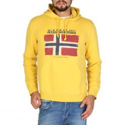 Napapijri Bluza Męska L Żółta. Szare bluzy męskie rozpinane marki Napapijri, l, z materiału, z kapturem. Za 485,00 zł.