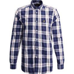 Koszule męskie na spinki: Lyle & Scott CHECK Koszula off white
