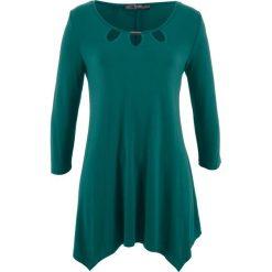 Tunika shirtowa, rękawy 3/4 bonprix zielony głęboki. Czarne tuniki damskie marki DOMYOS, z bawełny, street. Za 89,99 zł.