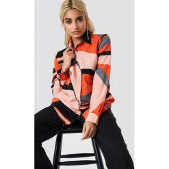 Koszule body: Trendyol Koszula z nadrukiem - Orange,Multicolor