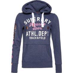 Bluzy damskie: Superdry TRACK & FIELD HOOD Bluza z kapturem mid denim marl
