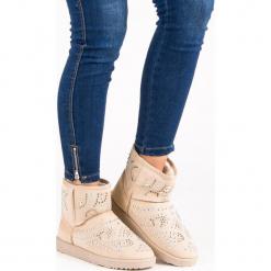 MODNE BEŻOWE ŚNIEGOWCE. Białe buty zimowe damskie marki Merg. Za 76,90 zł.