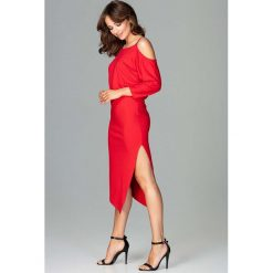 Czerwona Asymetryczna Sukienka z Kimonowym Rękawem. Niebieskie sukienki asymetryczne marki Reserved. Za 159,90 zł.