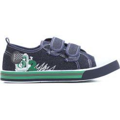 Granatowe Trampki Treat On. Niebieskie buty sportowe chłopięce Born2be, z materiału, młodzieżowe, z okrągłym noskiem. Za 39,99 zł.