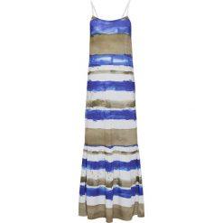 Sukienki: Sukienka bonprix biało-oliwkowo-niebieski w paski