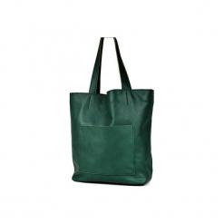 Duża skórzana torba Hobo. Zielone torby na laptopa Pracownia6-9, ze skóry. Za 250,00 zł.