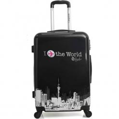"""Walizka """"Soho"""" w kolorze czarnym - 47 x 70 x 29 cm. Czarne walizki American Travel, z materiału. W wyprzedaży za 282,95 zł."""