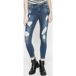 Only - Jeansy CARMEN. Niebieskie jeansy damskie rurki ONLY, z aplikacjami, z bawełny. W wyprzedaży za 89,90 zł.
