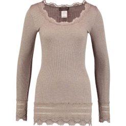 Bluzki asymetryczne: Rosemunde Bluzka z długim rękawem brown melange