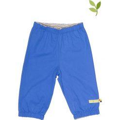 Spodnie niemowlęce: Spodnie outdoorowe w kolorze niebieskim