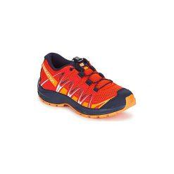 Buty Dziecko Salomon  XA PRO 3D J. Czarne buty sportowe chłopięce marki Salomon, z gore-texu, na sznurówki, outdoorowe, gore-tex. Za 289,00 zł.