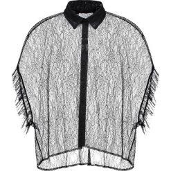 Koszule wiązane damskie: Elvi POLKA  Koszula black
