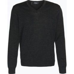 März - Męski sweter z wełny merino, szary. Brązowe swetry klasyczne męskie marki Alma en Pena, z materiału, na obcasie. Za 449,95 zł.