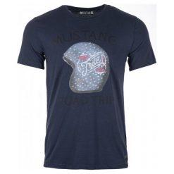 Mustang T-Shirt Męski Printed M Ciemnoniebieski. Niebieskie t-shirty męskie marki Oakley, na lato, z bawełny, eleganckie. Za 99,00 zł.