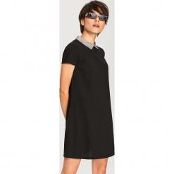 Sukienka z wiązaniem przy szyi - Szary. Szare sukienki z falbanami Reserved, na imprezę, l. Za 79,99 zł.