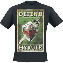 The Legend Of Zelda Defend Hyrule T-Shirt czarny. Czarne t-shirty męskie z nadrukiem marki Caliban, s. Za 54,90 zł.