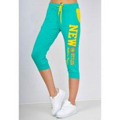 Spodnie dresowe damskie: Dresowe bermudy z nadrukiem new