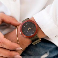 Drewniany zegarek damski new hoop 38 mm n061. Różowe zegarki damskie Pakamera. Za 374,00 zł.